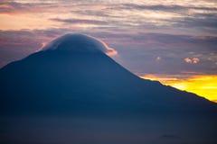 Golden sunrise cloud top of mountain Stock Photos