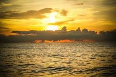 Golden sunrise of the coast of thailand Stock Photo
