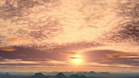 Golden sunrise in the desert stock video footage