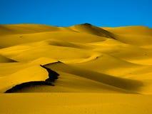 Golden sunrise, Great Sand Dunes, Colorado, USA Stock Images