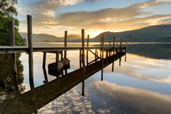 Golden Sunrise By The Lake. royalty free stock images