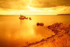 Golden sunrise Royalty Free Stock Photography