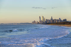 Golden sunrise over Gold Coast Stock Photography