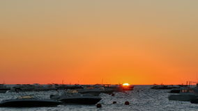 Golden Sunrise over the Mediterranean Sea with Boats stock video