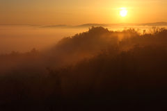 Golden Sunrise over the Mountain Royalty Free Stock Images