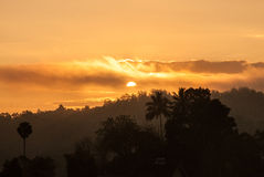 Golden sunrise, Sri Lanka Royalty Free Stock Photography
