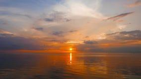 Golden Sunrise. A very calm, hazy, golden sunrise video stock video footage