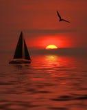 Golden Sunset. Sunset beauty Stock Image