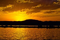 Golden Sunset Stock Image