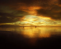 The golden sunset Stock Photography