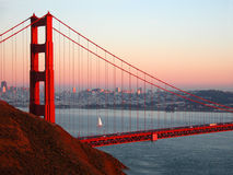 Golden Sunset. Golden Gate at sunset royalty free stock photos