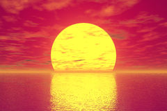 Golden Sunset Royalty Free Stock Image