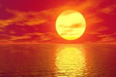 Golden Sunset Royalty Free Stock Photos