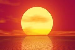 Golden Sunset royalty free illustration