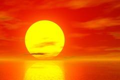 Golden Sunset vector illustration