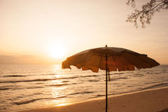 Golden sunset beach Trad Royalty Free Stock Photo