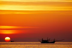 Golden Sunset, Chang Island, Thailand Royalty Free Stock Photo