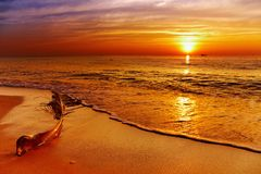 Golden sunset, Chang island, Thailand Stock Photography