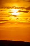 Golden sunset closeup background, evening sky Royalty Free Stock Images