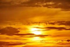 Golden sunset closeup background, evening sky Royalty Free Stock Photography