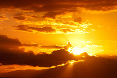 Golden Sunset Clouds Royalty Free Stock Photos