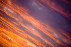 Golden sunset clouds diagonal Stock Images