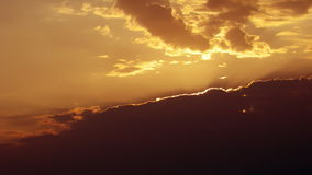 Golden sunset and cloudscape stock footage
