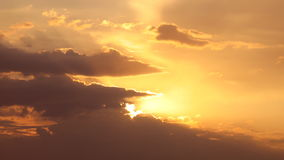 Golden sunset and cloudscape Royalty Free Stock Photo