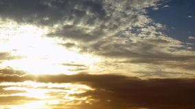 Golden sunset and cloudscape stock video footage