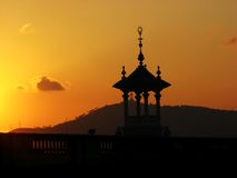 Golden sunset and cupola stock photos