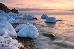 Golden sunset. East Sea. Royalty Free Stock Photo