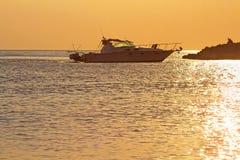 Golden sunset in Greece Stock Photo