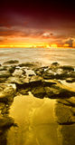Golden sunset of Hawaii Royalty Free Stock Photo