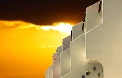 Golden sunset on holiday Royalty Free Stock Image