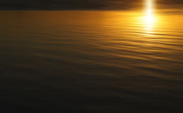 Golden sunset on a lake Royalty Free Stock Images