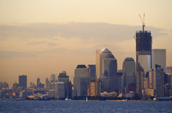 Golden Sunset in Manhattan Royalty Free Stock Photos