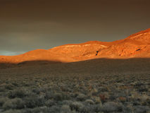 Golden Sunset near Death Valley Royalty Free Stock Images