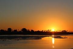 Golden Sunset at Ocean Beach, San Diego, California Royalty Free Stock Photos