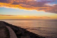 Golden sunset over Mornington Peninsula, Australia Stock Images