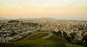Golden Sunset over San Francisco Royalty Free Stock Photography