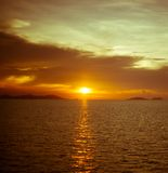 Golden sunset over the sea Royalty Free Stock Photography