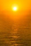 Golden sunset over sea Stock Photo