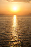 Golden sunset over the sea Royalty Free Stock Photos