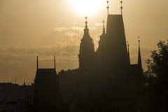 Golden sunset in Prague Royalty Free Stock Image