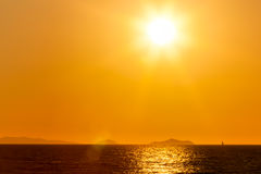 Golden Sunset, Punta Ala, Tuscany Royalty Free Stock Image