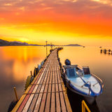 Golden sunset on the sea Royalty Free Stock Image