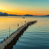 Golden sunset on the sea Royalty Free Stock Images