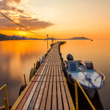 Golden sunset on the sea Royalty Free Stock Photography