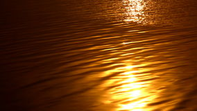 Golden sunset at sea with vibrant colors stock footage