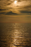 Golden Sunset Sea Royalty Free Stock Photo